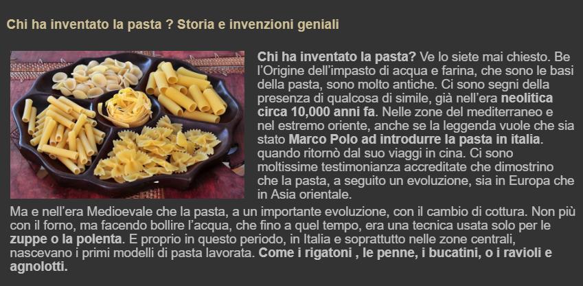 Chi ha inventato la pasta
